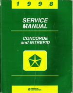 1998 Chrysler Concorde, Dodge Intrepid Service Manual