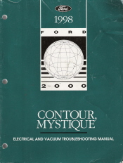 1998 Ford Contour & Mercury Mystique Electrical and Vacuum Troubleshooting Manual (EVTM)