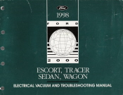 1998 Ford Escort, Mercury Tracer,Sedan/Wagon Electrical and Vacuum Troubleshooting Manual