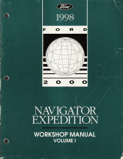 1998 Lincoln Navigator/Ford Expedition Workshop Manual   2 Volume Set