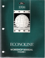 1998 Ford Econoline Workshop Manual - 2 Volume Set