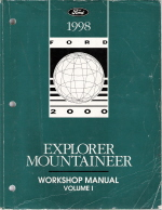 1998 Ford Explorer, Mountaineer Workshop Manual - 2 Vol. Set