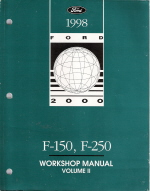 1998 Ford F150 & F250 Factory Workshop Manual - 2 Volume Set