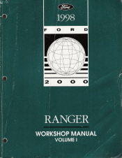 1998 Ford Ranger Factory Service Manual - 2 Volume Set