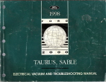 1998 Ford Taurus & Mercury Sable Electrical and Vacuum Troubleshooting Manual