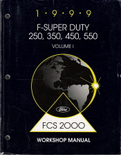 1999 Ford F-Super Duty 250, 350, 450, 550 Factory Service Manual - 2 Volume Set