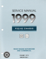 1999 Chevrolet & GMC P30, P32, P40 & P42 Motorhome & Commercial Chassis Service Manual -- 3 Volume Set