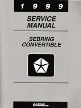 1999 Chrysler Sebring Convertible Factory Service Manual