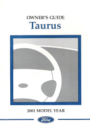 2001 Ford Taurus Factory Owner's Manual