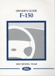 2001 Ford F-150 Factory Owner's Manual with Case