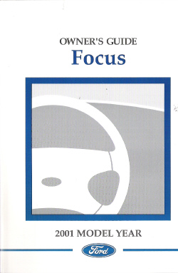 2001 Ford Focus Factory Owner's Manual with Case