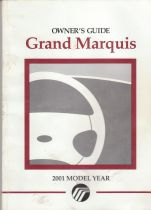 2001 Mercury Grand Marquis Owner's Manual