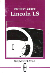 2001 Lincoln LS Factory Owner's Manual
