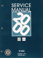 2000 Chevrolet Express & GMC Savana (G Van) Service Manual - 4 Volume Set