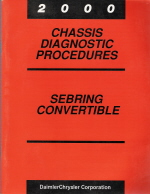 2000 Chrysler Sebring Convertible Factory Body / Chassis / Powertrain Diagnostic Procedures   3 Volume Set