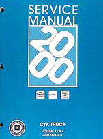2000 Chevrolet & GMC CK8 New Style Trucks Factory Service Manual for Silverado, Tahoe, Yukon, Suburban & Sierra - 4 Volume Set