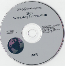2001 Model Year Ford, Lincoln & Mercury  Cars Factory Workshop Information CD-ROM