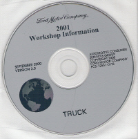 2001 Model Year Ford Truck & Van: Factory Workshop Information CD-ROM