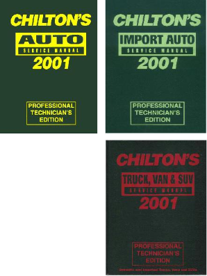 1997 - 2001 Chilton's Pro Service Manuals - 3 Volume Set