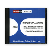 2005 Hino Service Manual, Engines & Chassis All Models CD-ROM