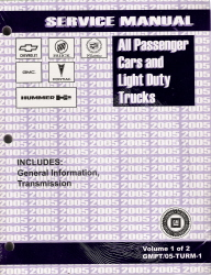 2005 All GM Passenger Cars and Light Duty Trucks Transmission, Transaxle and Transfer Case Unit Repair Manual - 2 Vol. Set