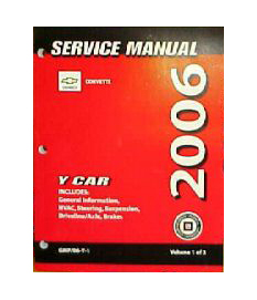 2006 Chevrolet Corvette Factory Service Manual - 3 Volume Set
