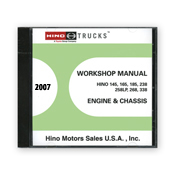 2007 Hino Service Manual, Engines & Chassis All Models CD-ROM