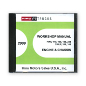 2009 Hino Service Manual, Engines & Chassis All Models CD-ROM