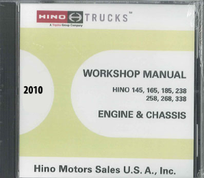 2010 Hino Service Manual, Engines & Chassis All Models CD-ROM