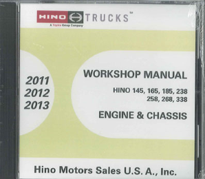 2011-2013 Hino Service Manual, Engines & Chassis All Models CD-ROM