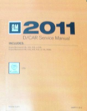 2011 Cadillac CTS / CTS-V Factory Service Manual Set, 5 Vol. Set