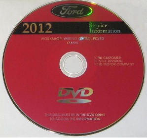 2012 Ford Mustang Factory Service Information DVD-ROM