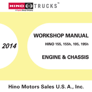 2014 Hino Cab-Over-Engine 155 155h 195 195h OEM Repair Service Manual CD
