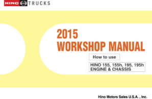 2015 Hino Cab-Over-Engine 155 155h 195 195h OEM Repair Service Manual CD