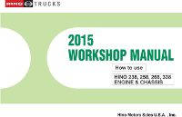 2015 Hino Service Manual, Engines & Chassis All Models CD-ROM