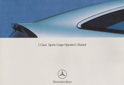 2003 Mercedes C-Class Sports Coupe Owner's Manual