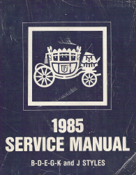 1985 General Motors Fisher Body Assembly Service Manual - Body Styles B-D-E-G-K-J