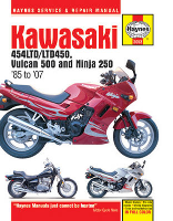1985 - 2007 Kawasaki EX250, EN450 (454LTD/LTD450), EN500 (Vulcan 500) Haynes Motorcycle Service and Repair Manual