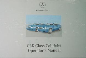 2002 Mercedes-Benz CLK-Class Cabriolet Factory Owner's Manual Portfolio