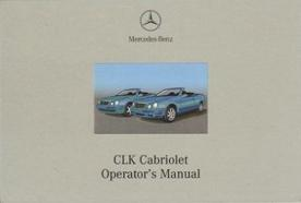 2000 Mercedes Benz CLK Cabriolet Factory Owner's Manual