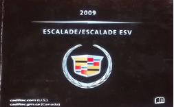 2009 Cadillac Escalade & Escalade ESV Factory Owner's Manual Portfolio