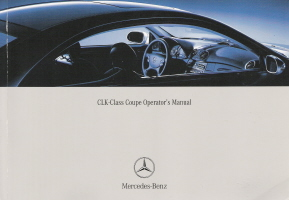 2004 Mercedes Benz CLK-Class Coupe Owner's Manual