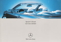 2005 Mercedes Benz CLK-Class Cabriolet Owner's Manual
