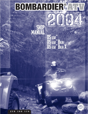 2004 Bombardier DS 650 & DS 650 Baja Factory Service Manual