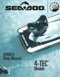 2005 Official Sea-Doo GTX/Limited/Supercharged RXP RXT And Wake 4-TEC Models Shop Manual