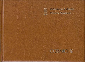 1975 - 1979 Rolls Royce Corniche Drophead & Saloon Factory Original Leather Handbook