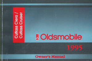 1995 Oldsmobile Cutlass Ciera and Cutlass Cruiser Factory Owner's Manual