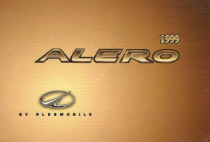 1999 Oldsmobile Alero Factory Owner's Manual