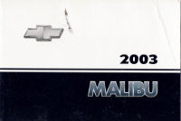 2003 Chevrolet Malibu Owner's Manual