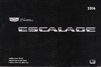2016 Cadillac Escalade / Escalade ESV Factory Owner's Manual
